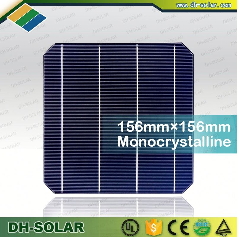4.7w high efficiency mono solar cell 156*156mm, Taiwan A grade without defect