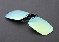 Green Coating Sunglasses Clip on Myopia Glasses Flip Up Sunglass For Fishing Driving Traveling Oculos Clip