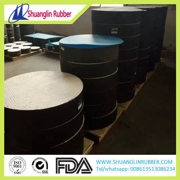 Elastomer rubber pad bridge bearing