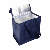 OEM cheapest promotional heavy bulk recycled whole foods insulated aluminium foil glossy laminated non woven cooler bag