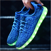 light flashing running rechargeable simulation led shoes