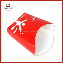 Folding disposable french fries carton box paper box for french fries packing