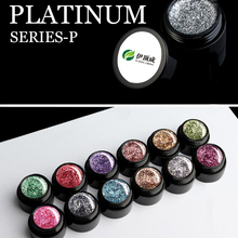 2017 Newest 15 colors Organic Color Giltter Gel Nail Polish Super Platinum Nail Gel Polish