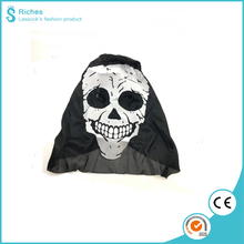 Yiwu Riches 100% Polyester Wholesale Party Non-toxic Halloween ghost mask with silk printing