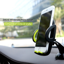Universal smartphone car holder sticky windshield dashboard desk mobile phone holder stand 360 Rotating for 4-6 inch smartphone