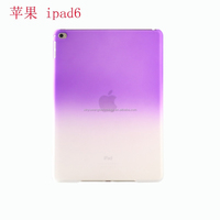 High quality new fashion Gradient ultra thin PC back case for Ipad 6