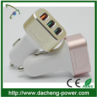 CE ROHS FCC approved qc2.0 charger 5V 2.4A with 3ports