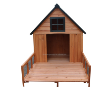 Big size wooden dog house with belcony