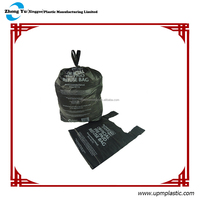 Disposable plastic dog carrier bag