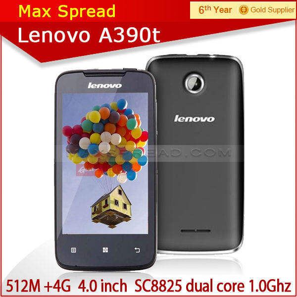 100% Original Lenovo A390T mobile Phone 4.0 Inch Touch Screen 3G GPS made in china