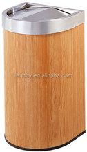 Trash Can with Rosewood Coated Metal VCM Laminated Steel Coil