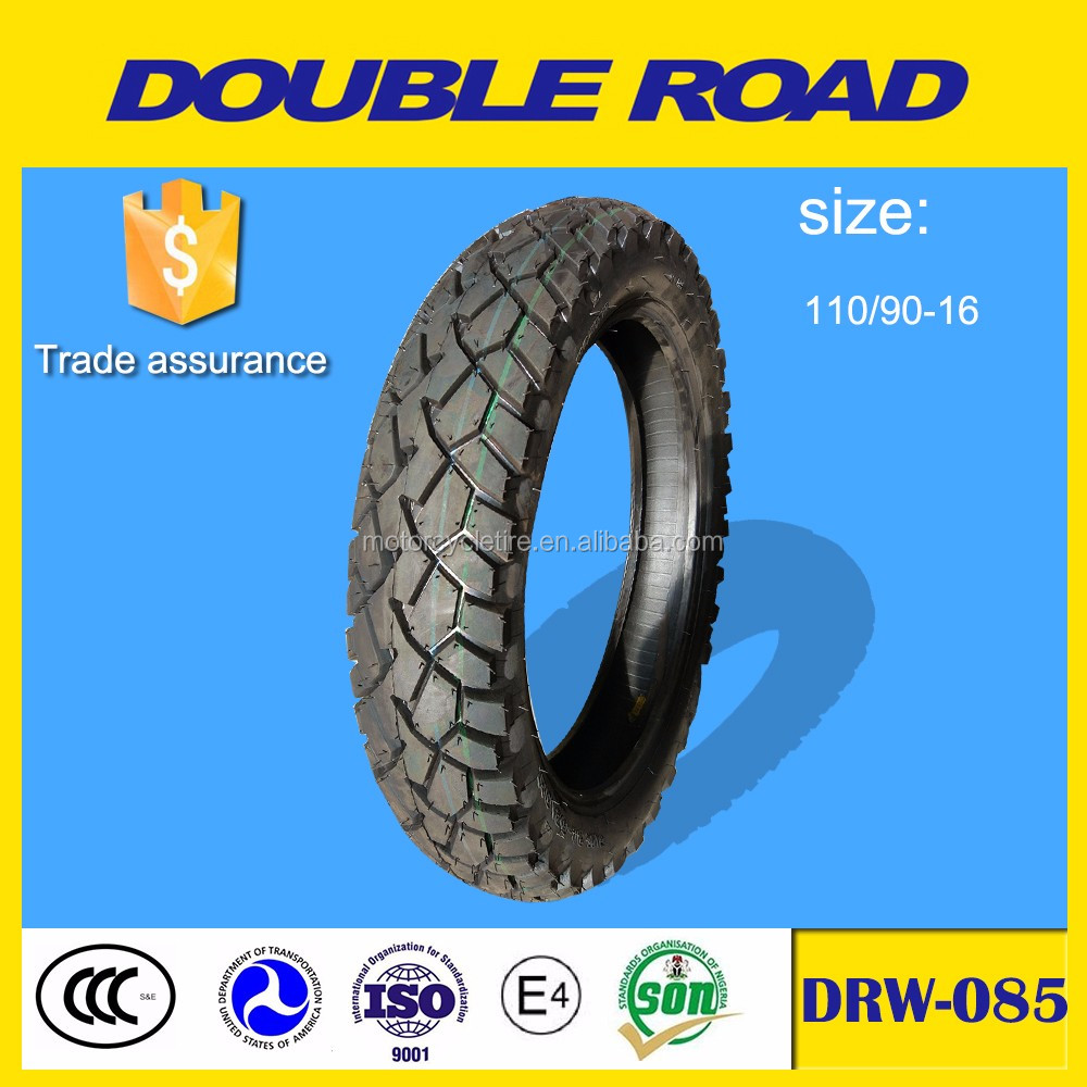 Motorcycle tires 110 90 x 16 wholesale with China factory price
