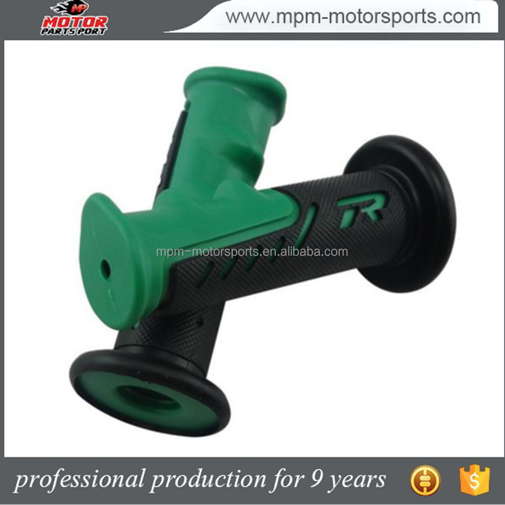 7/8Inch 22mm Green and Black Rubber Handle Grips for Honda CB Motorcycle