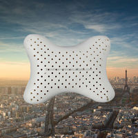 Latex Pillow Bone Shape Car Neck Pillow/cushion with Fastening Strap