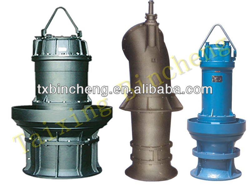 submersible vertical axial mixed flow pump
