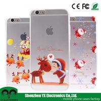 cheap bulk father christmas gift cute soft tpu cell phone case for iphone 5 6 6s plus