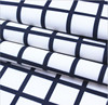 100% polyester black and white check digital printed fabrics