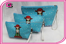 Wholesale Fashion cartoon cute hand cosmetic bag three-piece suit wash bag waterproof bag