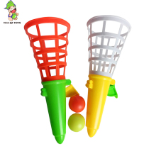 Custom 2 Pcs Funny Play Game shooting Ball Sport Toy Ball Catch Game small ball plastic toys