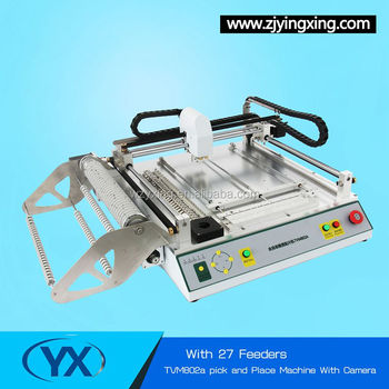 High Precision SMT Chip Mounter TVM802A With 27 Feeders low cost pcb machine PNP Production Line