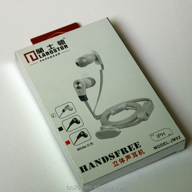 Wholesale Hanging Earphone Packaging Printing Paper