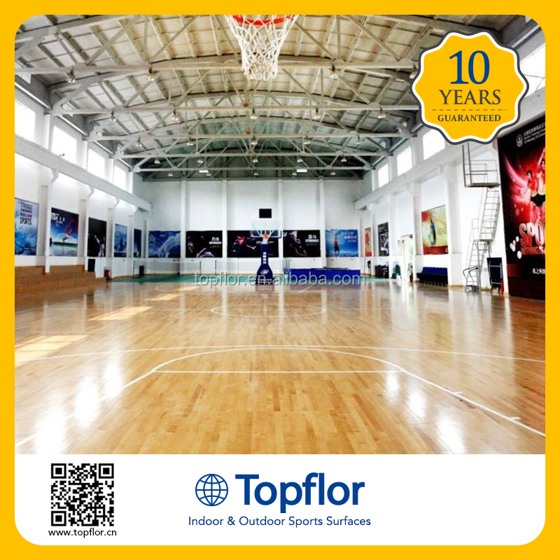 Topflor Cheap Basketball Court Indoor Sports Flooring Price