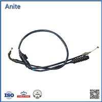 New Wholesale BAJAJ BOXER Motorcycle Parts Throttle Cable /Ends Control Accelerator Cable