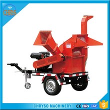 Diesel engine 12hp mobile Wood crusher factory direct sell