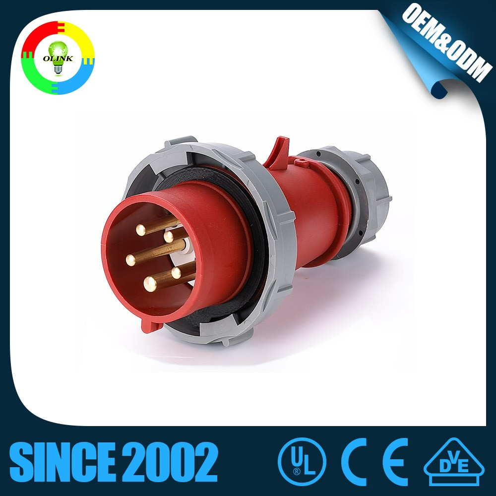 industrial wall socket 32a 3p+n+e plug 32a 5p ip66 16a 380v for hazardous area