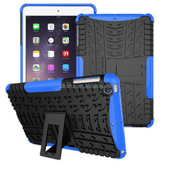Factory price hybrid hard pc +soft tpu case for ipad mini 3,shockproof case for ipad minii 3