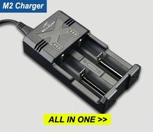 M2 intelligent universal 1.2V 3.7V 18650 lithium li-ion aa battery charger