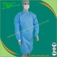 Medical disposable antivirus sterile safety isolation gown with elastic cuffs
