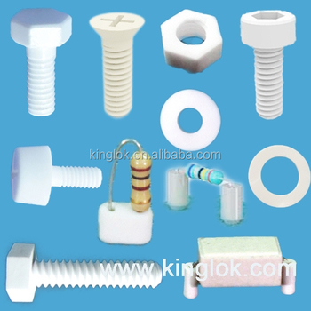 Ceramic Screws Bolts fasteners Ceramic nuts ceramic al2o3 bolt and nut