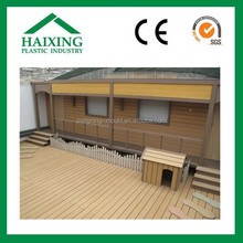 Teak outdoor decking floor, foamed pvc