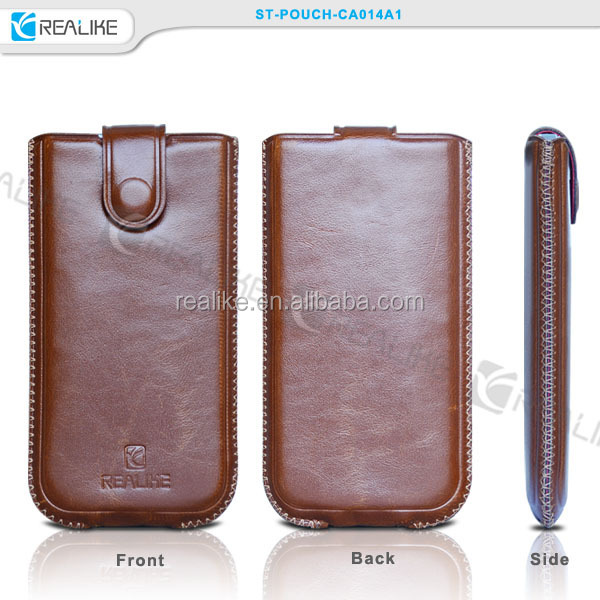 universal phone pouch mobile phone bags & cases leather case pouch for htc one mini