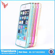 Vser Wholesale cheap mobile phone casing for iphone 6 plus beautifully cell diamond bumper case for iPhone 6+ China products