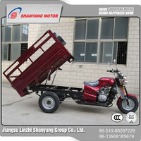closed cabin three wheel cargo motor tricycle 4 LZSYroke engine china four wheelers eec