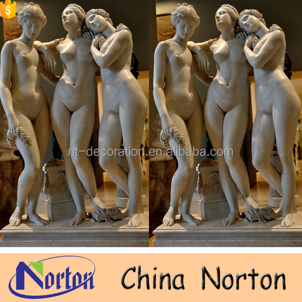 White marble life size garden nude woman statue NTMS0811A