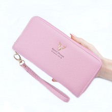 Wholesale Tianqin Brand Women's Long PU Leather Bifold Cell Phone Holder Wallet