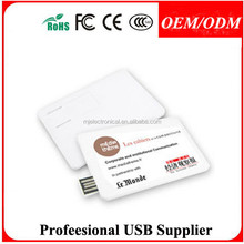 Business card usb flash drive ,simple removable storing equipment ultral-thin card shape ,Free sample
