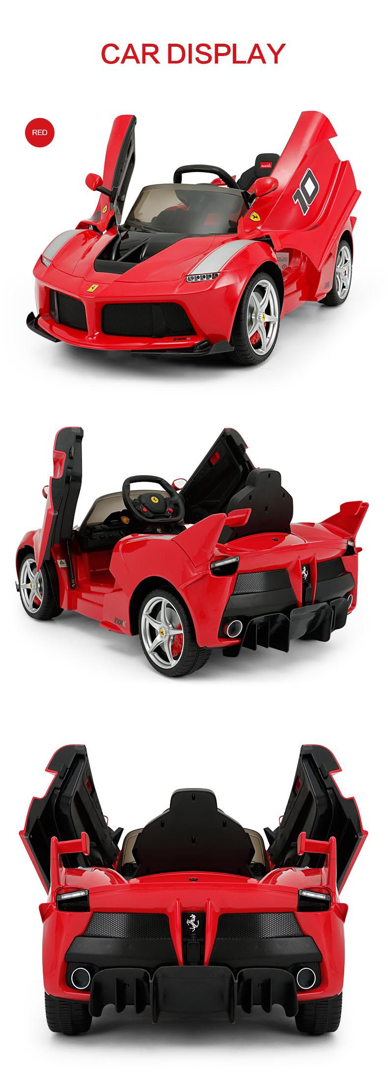 RASTAR Ferrari kids electric car ride on car 12V
