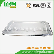 disposable aluminum foil container lid for full size deep pan