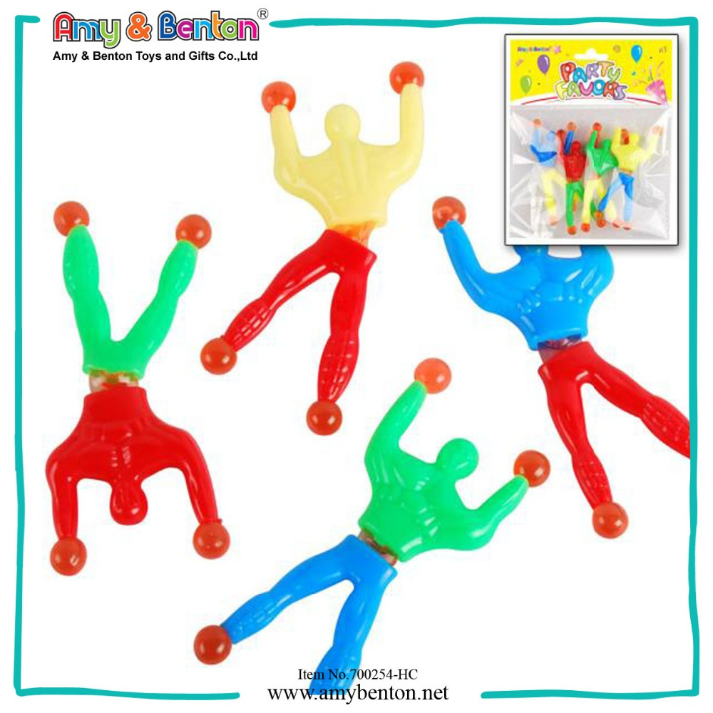 Hot selling kids promotional gift sticky spider man toy