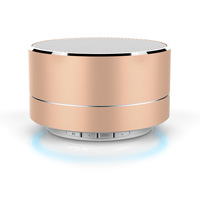 fashionable design aluminum alloy A10 bluetooth portable speaker with led light
