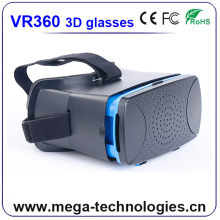 brand name vr headset own logo with remote for movies,games,videos and images