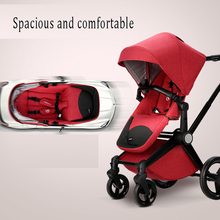 3-in-1 Baby Doll Stroller With Car Seat Four Wheel American Baby Stroller