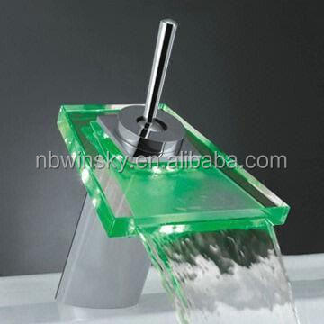 led basin faucet with water flowing produce electricity no battery