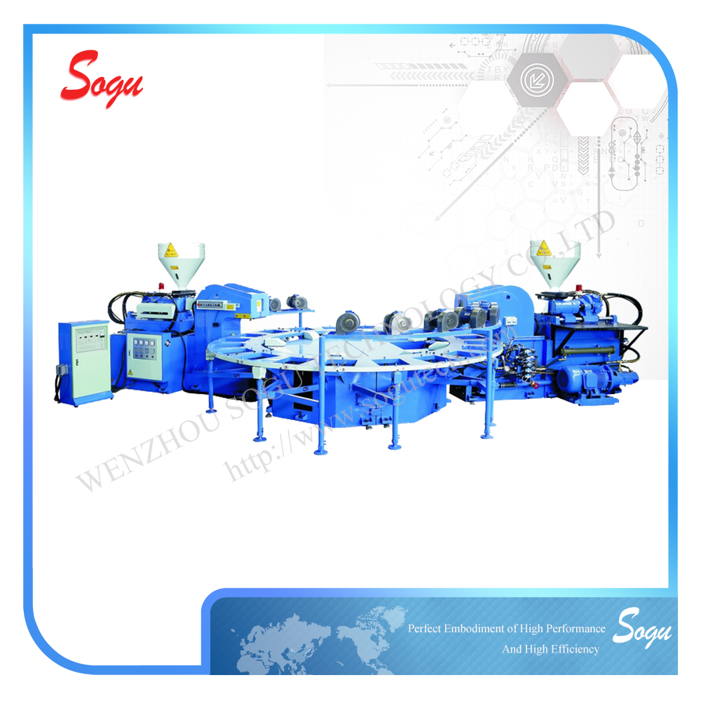XZ0012 Auto Rotary Type Plastic Rubber Sole Injection Moulding Machine