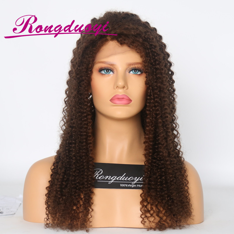 Excellent quality human hair full lace wig Brown color human hair wigs white women