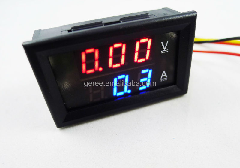 DC 100V 50A red + blue digital Voltage Current Meter